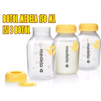 Harga Medela 3 pcs Botol ASI 150ml BreastMilk Bottle Original