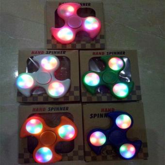 Happy Fidget Hand Spinner Shuriken NINJA With LED Hand Toys Focus Games - Mainan Spiner Penghilang