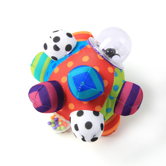 Harga HengSong Baby Colorful Hand Ball Infant Bell Cloth Rattle Toy