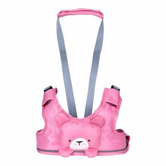 Baby Harness Backpack Leash Toddler Walker Leashes Child Safety Reins Baby First Walker (Pink)