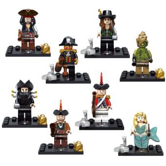 Hanyu New Minifigures Pirates Of The Caribbean Set Building Blocks Source · Blocks Toy 8pcs Set
