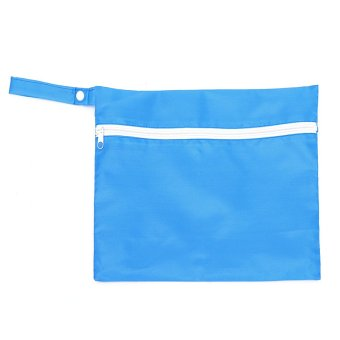 Harga Waterproof Pushchair Storage Bag Baby Cloth Nappy Diaper Pram Stroller Organizer Light Blue - Intl