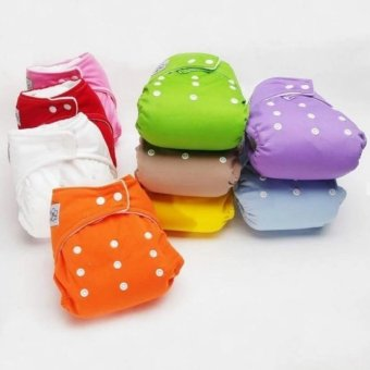 Harga New 10 PCS +10 INSERTS Adjustable Reusable Lot Baby Washable Cloth Diaper Nappies - intl