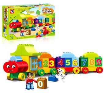 Harga Educational number train block toy for baby learn to count