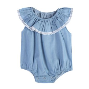 Harga Baby Girls Sleeveless Rompers Summer Jumpsuit - intl
