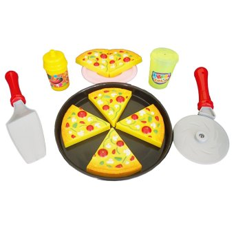 Harga Ocean Toy Pizza Set Mainan Anak OCT2201 - Multicolor