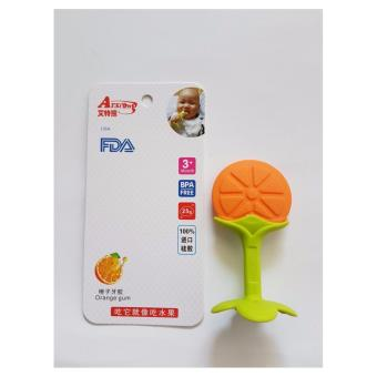 Harga Teether / Gigitan Bayi Model Orange BPA Free (Orange)