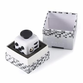 Harga The Ultimate Fidget Cube - Black and White