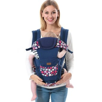 Harga Baby Carrier 3 in 1 Kangaroo Baby Hipseat Breathable Toddler Kids Sling (Blue) - intl
