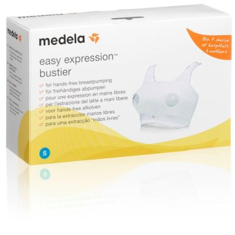 Harga Medela Easy Expression Bustier For Hands Free Breast Pumping - Size S