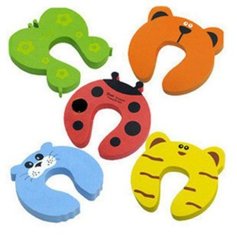 Harga 5 Pcs Baby Cartoons Safety Door Stopper Guard Finger Protector