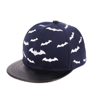 Harga Baby Baseball Cap Children Boys Girls Snapback Cap Kids Hiphop Hats(Navy Blue) - intl
