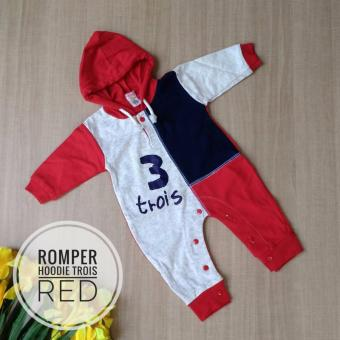 Harga Adora Baby Romper Hoodie Trois Red