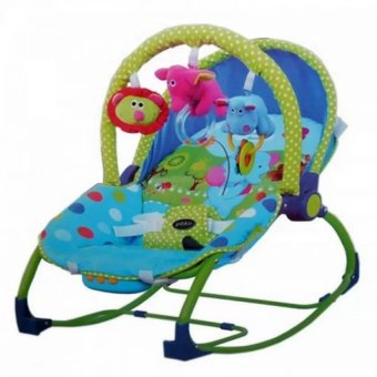 Harga Pliko PK-308 Hammock Rocking Chair Polkadot - Baby Bouncer - Ayunan Bayi - Multicolor