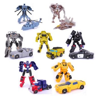 Harga Transformation 7PCS/LOT Robots Optimus Prime Bumblebee SideswipeStarscream Action Figure Toy Legends Classic Toys - intl