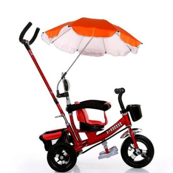 Harga Lemon Egc Pram Parasol Sun Protection Uv Rays Umbrella Shade For Babystroller Pushchair(Orange) - intl