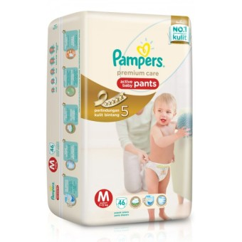 Harga Pampers Popok Premium Care Active Baby Pants - M 46