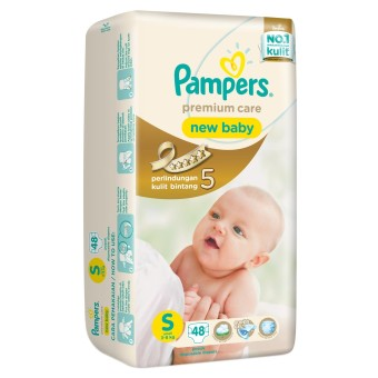 Harga Pampers Premium Care Active Baby Taped - S 48