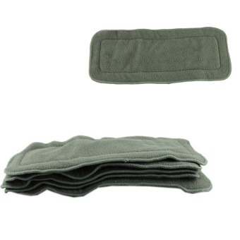 Harga 5Pcs 4 layers Bamboo Charcoal Inserts Cloth Diaper For Baby Diaper Washable Grey (Intl)
