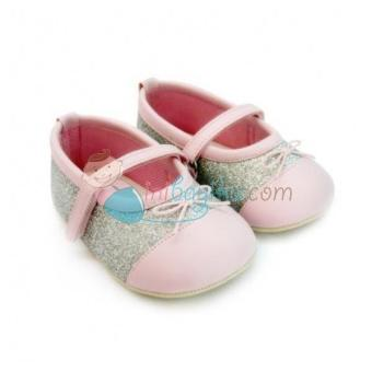 Harga Freddie The Frog Baby Shoes Nicole Sparkly Size 4 Color Silver Age 6M - 9M