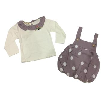 Blessbabykids Dress Ballon Polkadot Purple 2in1 - Stelan Dress