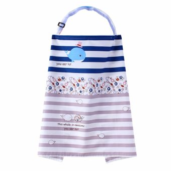 Harga Twill Cotton Nursing Cover Baby Infant Breathable Breastfeeding Cloth Cover Multi-functions(94*65CM) - intl