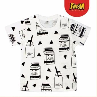 Harga Awesome Baby Cloth Milk - Baju Anak - Putih (M)