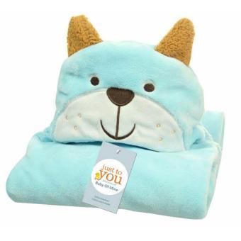 Freeshop Selimut Topi Double Fleece Selimut Hoodie Panda Green Bulu Bayi 3D Hoodie Blanket Tudung -