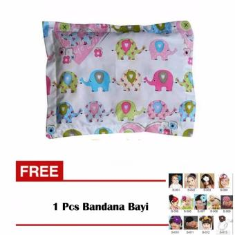 Harga Dita Baby Collection Beans Baby Pillow - Bantal Anti Peyang & Penebal Rambut Bayi - Motif Elephant Pink + Gratis Bandana Bayi