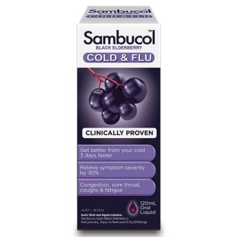 Harga Sambucol Cold & Flu Syrup 120mL - Berry Flavour