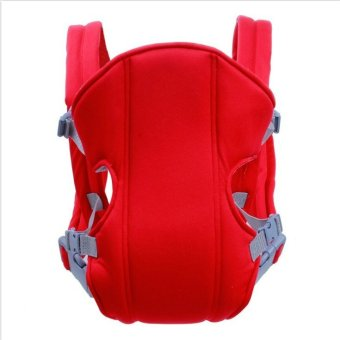 Harga B5M Portable Multifunction Breathable Kangaroo Baby Carrier Comfotable Infant Front Facing Backpack Carrier Sling Wrap Red