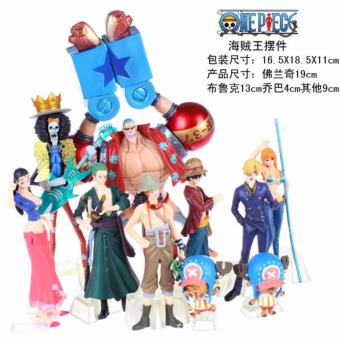 Harga 10pcs/lot Anime Figure One Piece Action Figure Luffy Nami Roronoa Zoro Hand-done Dolls Collection One Piece 2 Years Later - intl