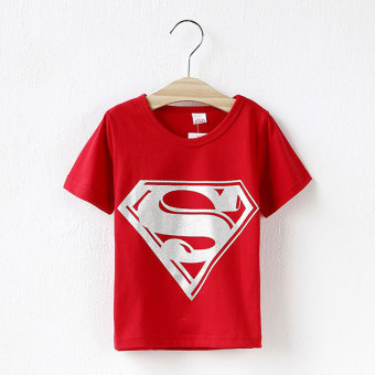 Harga Children Kids Clothing Tees,Cool Superman Baby Boys T Shirts For Summer,Children Outwear Baby T-shirt (Red)
