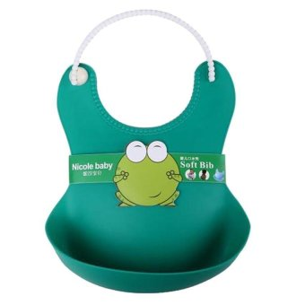 Harga New Born Baby Boy Kids Children Feeding Towel Cloth Apron Babador Bibs Bib Hot green