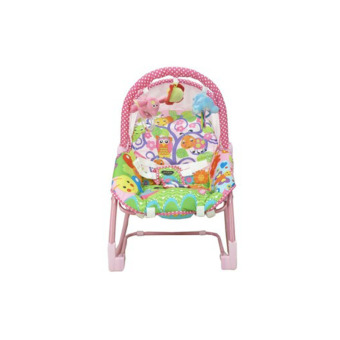 Harga Pliko Rocking Chair Hammock 3 in 1 Owl Baby Bouncer Ayunan Bayi - Multicolor Pink