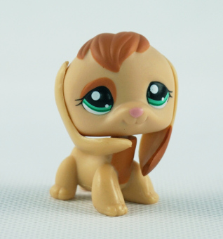 Harga Tan Brown Beagle Dog Girl toys Littlest Pet Shop Ultra LPS 1664 Animals Green Eyes Puppy Kids Toys - Intl