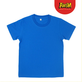 Harga Awesome Baby Cloth Polos - Baju Anak - Biru Turkish (L)