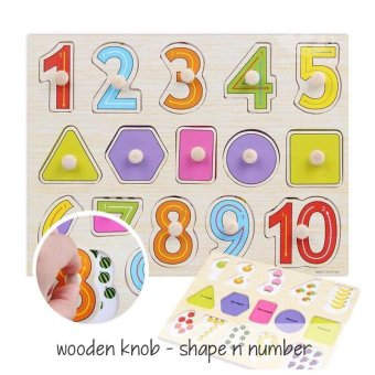 Harga Edufuntoys Wooden Knob - Shape n Number
