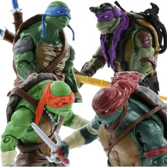 Teenage Mutant Ninja Turtles Movie TMNT Set of 4 Action Figures Gift Toys A