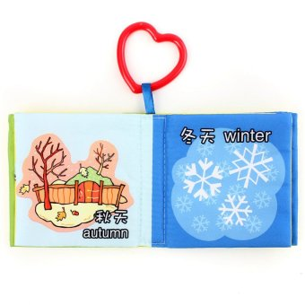 Harga Intelligence Development Cloth Picture Cognize Book Educational Toy for Kid Baby(Learn Nature)