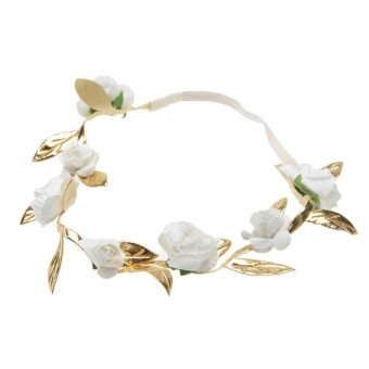 Harga Polyester Flower with Beach Beach Jewelry Baby Garland(White) - intl