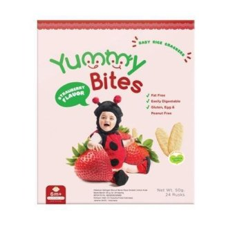Harga Yummy Bites - Biskuit Anak Yummy - Strawberry