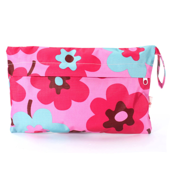 Harga Baby Waterproof Travel Cloth Zipper Diaper Wet Dry Bag Tote Nappy Pouch Storage(rose flowers )