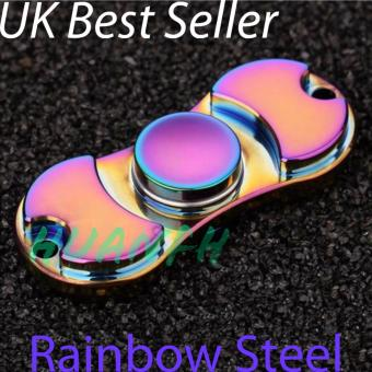 New Fidget Finger Spinner Rainbow Steel - UK Best seller
