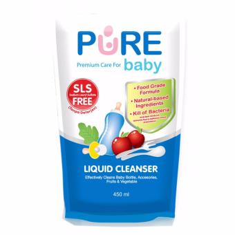 Harga Pure Baby Liquid Cleanser 450ml Refill - 1 Pack