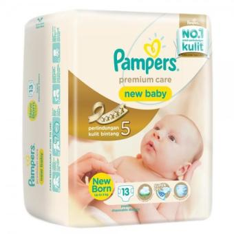 Harga Pampers Popok Premium Care New Baby Tape - NB 13