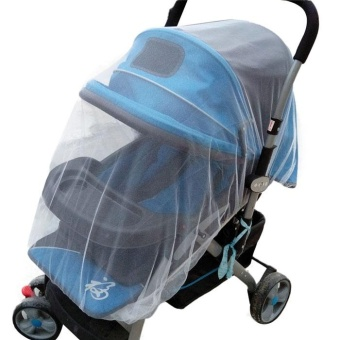 Harga Summer Safe Baby Carriage Insect Full Cover Mosquito Net Baby Stroller Bed Netti - intl