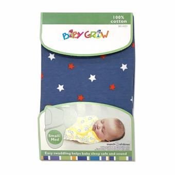 Harga Baby Grow Swaddle Bedong Instant - Blue Stars