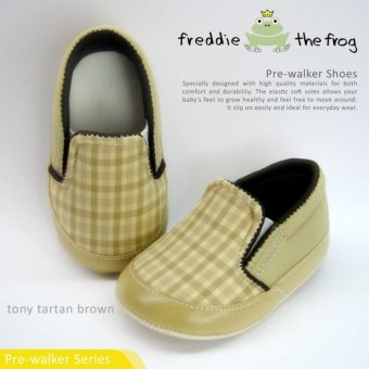 Harga SEPATU BAYI / PREWALKER SHOES by FREDDIE THE FROG - TONY TARTAN BROWN