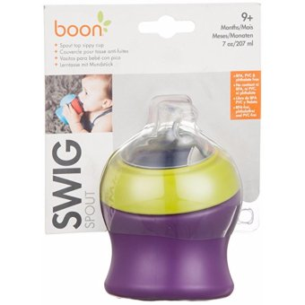 Harga NTR Boon Swig Short Spout Top Sippy Cup Purple-Green